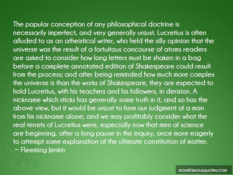 Fleeming Jenkin Quotes