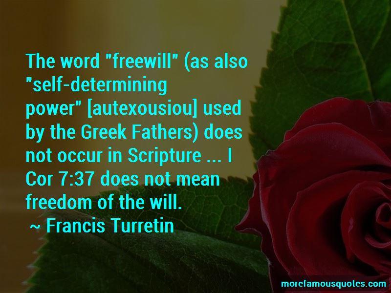 Francis Turretin Quotes