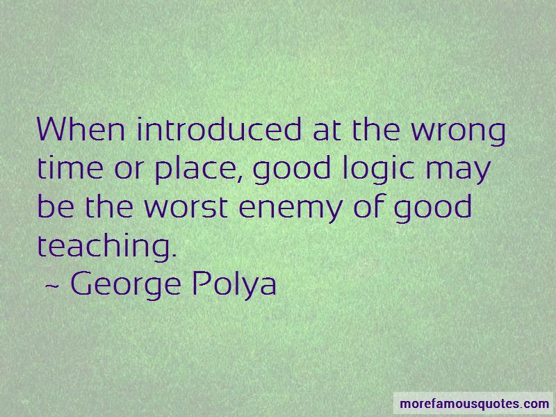 George Polya Quotes