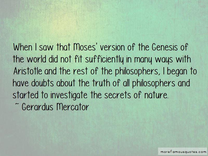 Gerardus Mercator Quotes