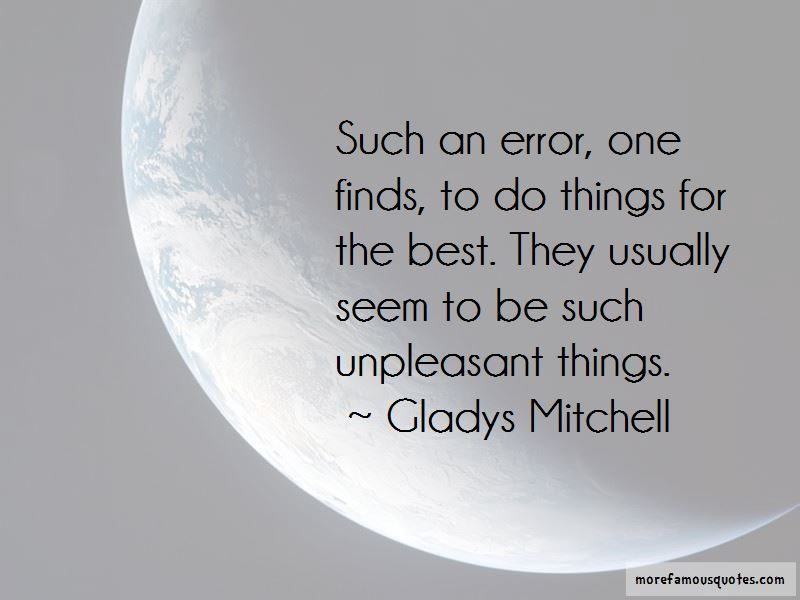 Gladys Mitchell Quotes