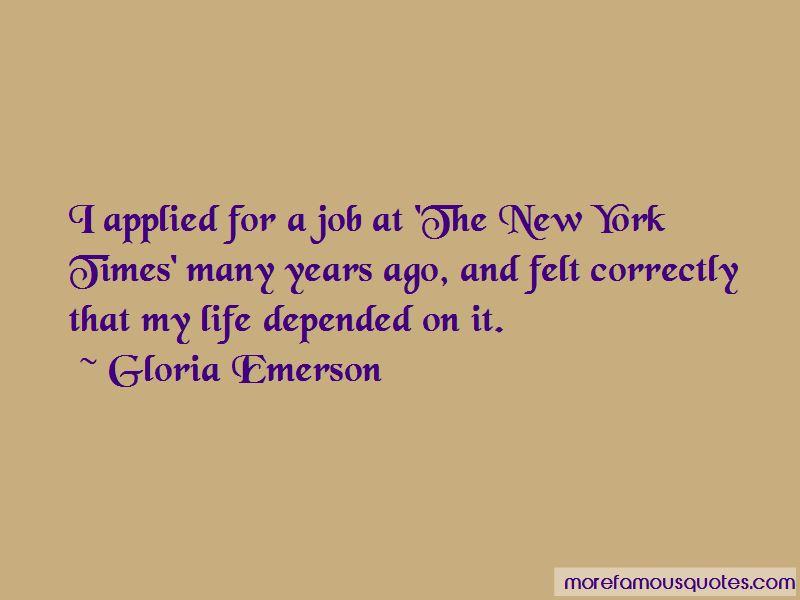 Gloria Emerson Quotes