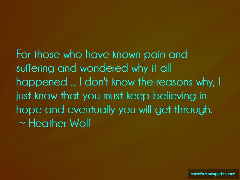 Heather Wolf Quotes