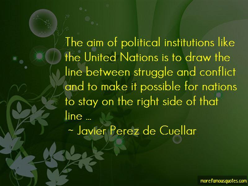 Javier Perez De Cuellar Quotes