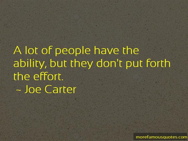 Joe Carter Quotes