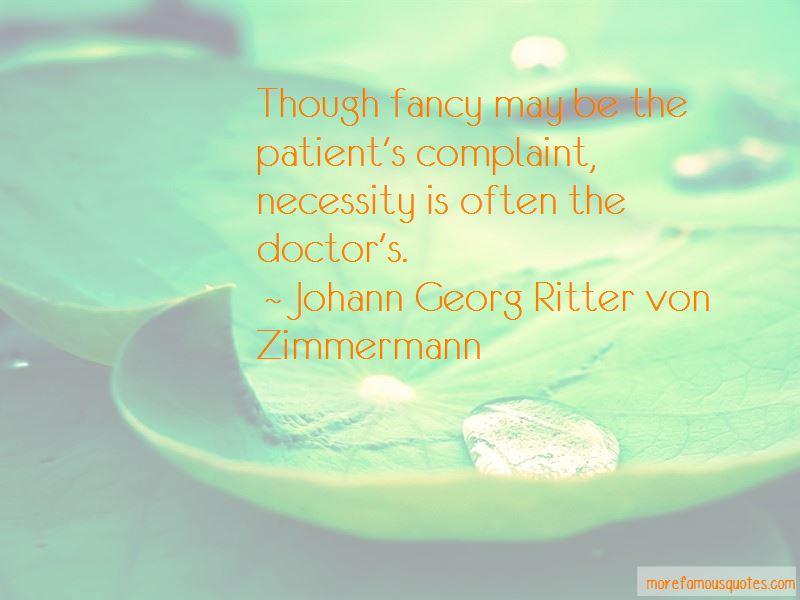 Johann Georg Ritter Von Zimmermann Quotes