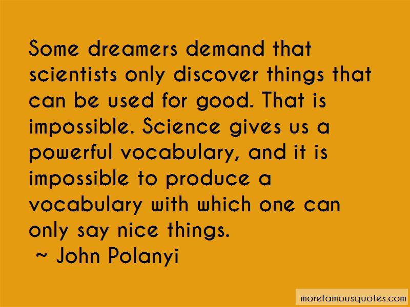 John Polanyi Quotes