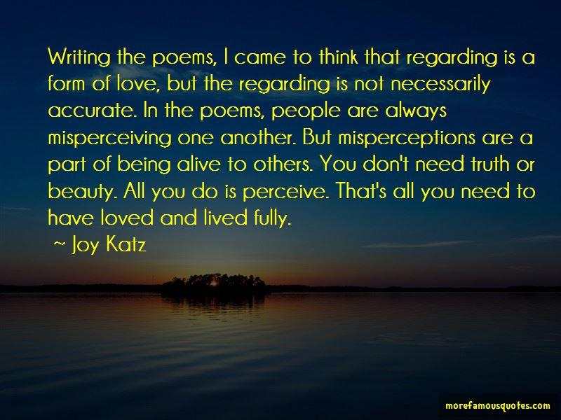 Joy Katz Quotes