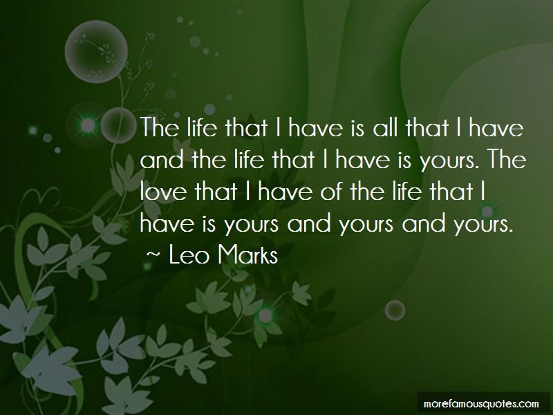 Leo Marks Quotes