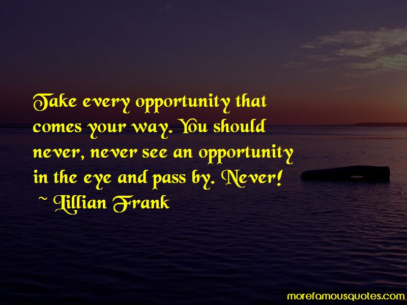 Lillian Frank Quotes