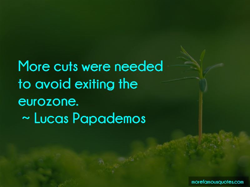 Lucas Papademos Quotes Pictures 2
