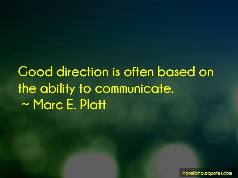 Marc E. Platt Quotes