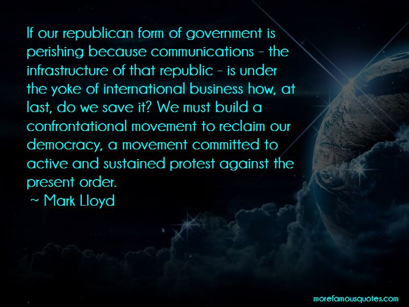Mark Lloyd Quotes