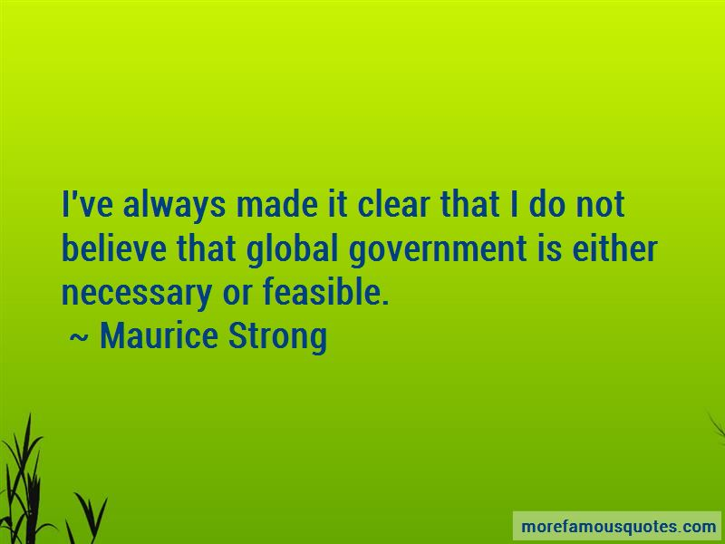 Maurice Strong Quotes Pictures 4