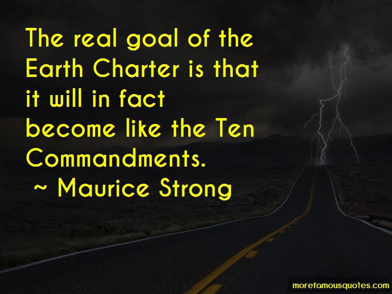 Maurice Strong Quotes