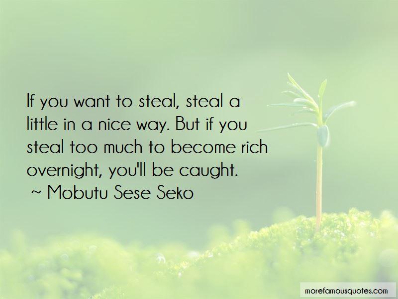 Mobutu Sese Seko Quotes