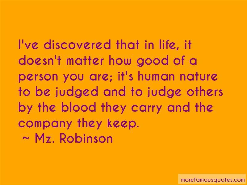 Mz. Robinson Quotes