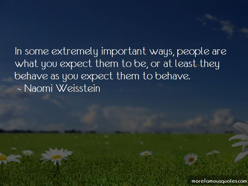 Naomi Weisstein Quotes