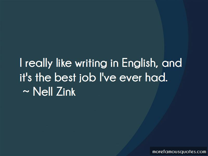 Nell Zink Quotes Pictures 2