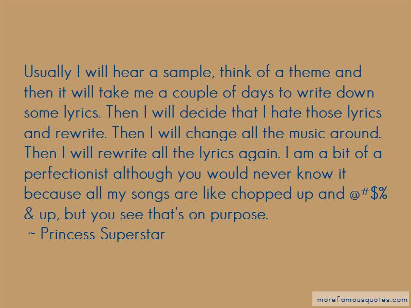 Princess Superstar Quotes Pictures 2