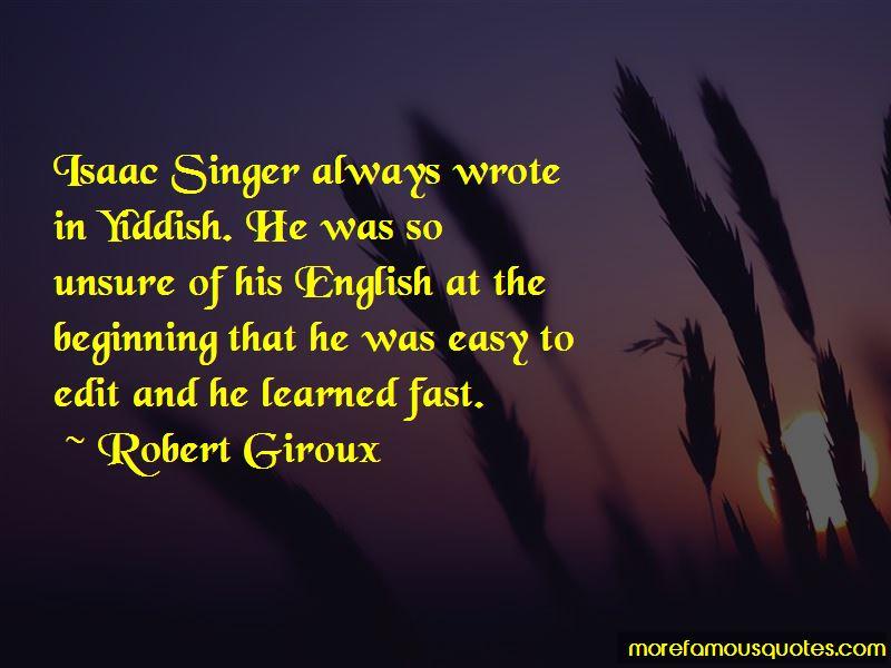 Robert Giroux Quotes