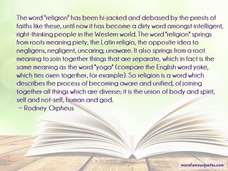 Rodney Orpheus Quotes