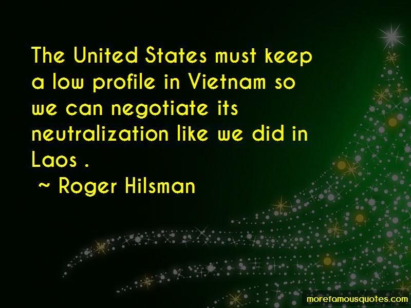 Roger Hilsman Quotes
