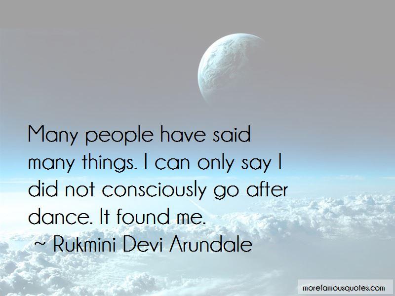 Rukmini Devi Arundale Quotes