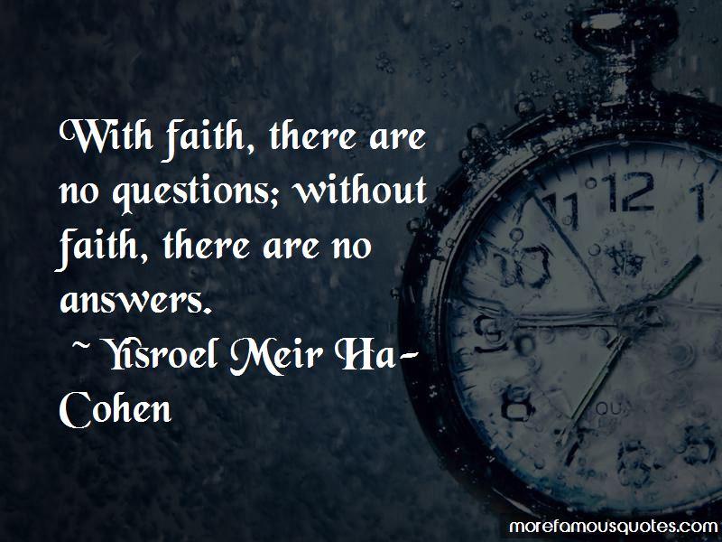 Yisroel Meir Ha-Cohen Quotes