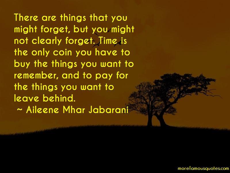 Aileene Mhar Jabarani Quotes