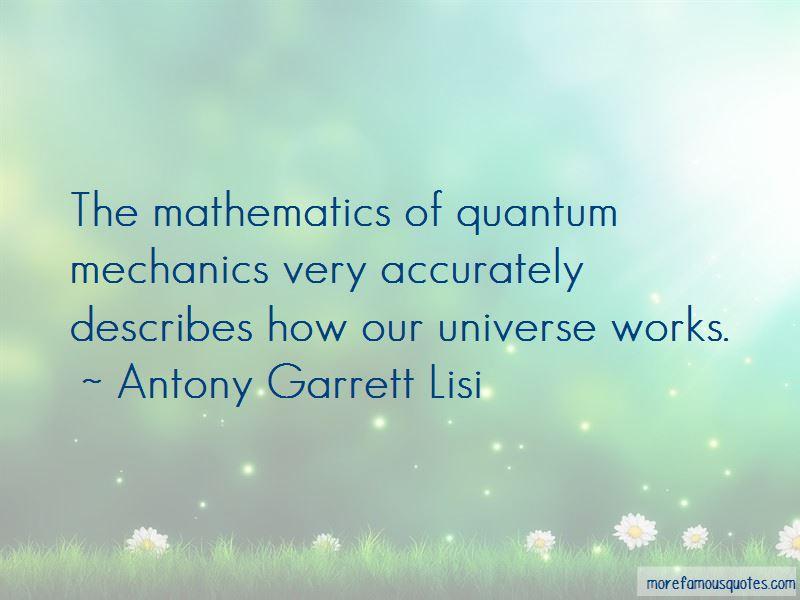 Antony Garrett Lisi Quotes Pictures 2