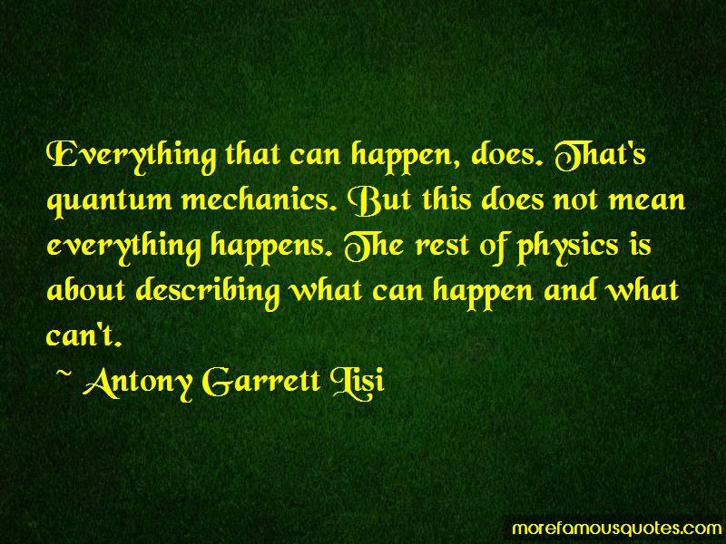 Antony Garrett Lisi Quotes