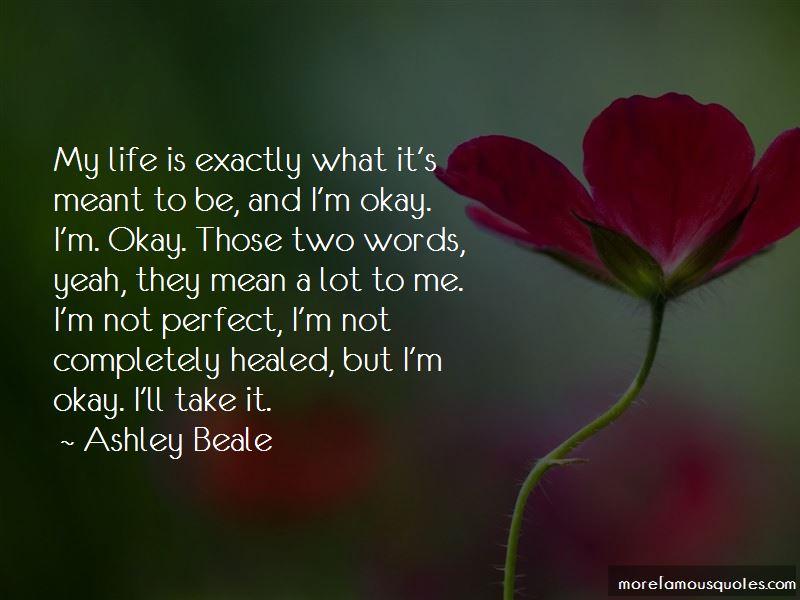 Ashley Beale Quotes
