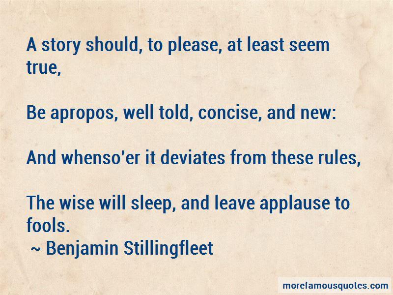 Benjamin Stillingfleet Quotes