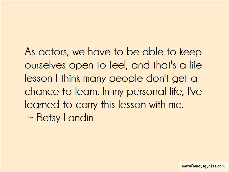 Betsy Landin Quotes Pictures 2
