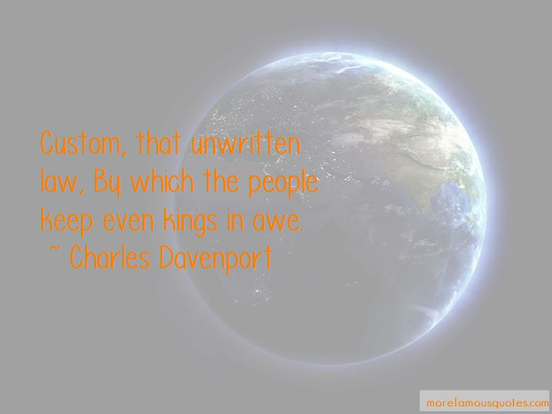 Charles Davenport Quotes Pictures 2
