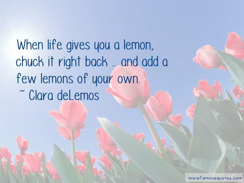 Clara DeLemos Quotes