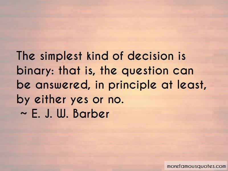 E. J. W. Barber Quotes