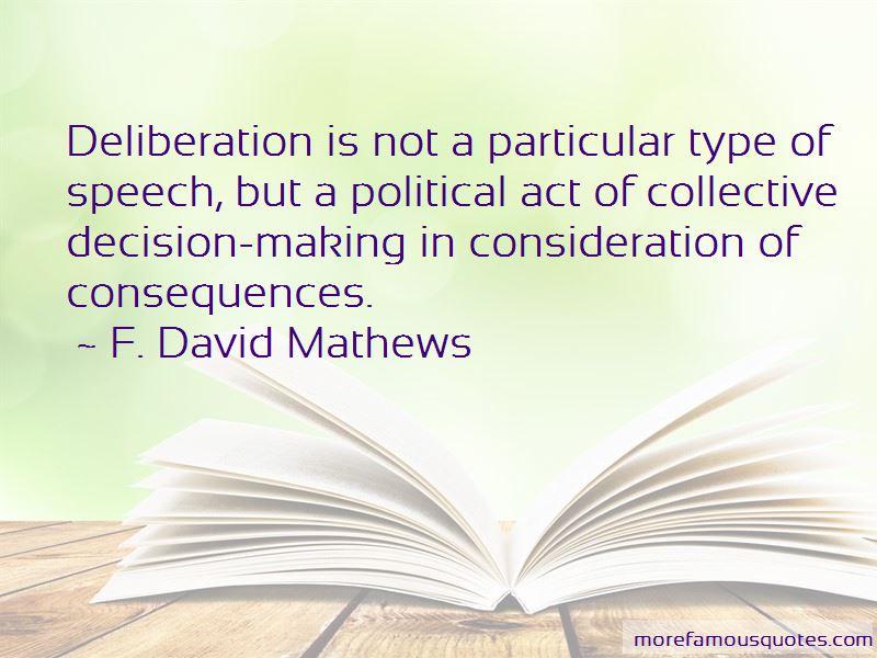 F. David Mathews Quotes