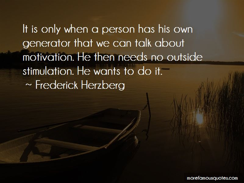 Frederick Herzberg Quotes Pictures 2