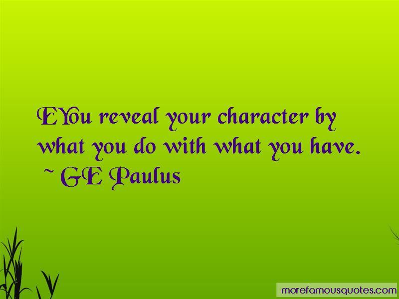 GE Paulus Quotes Pictures 4