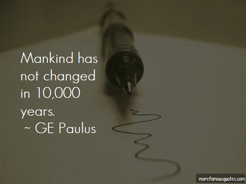 GE Paulus Quotes