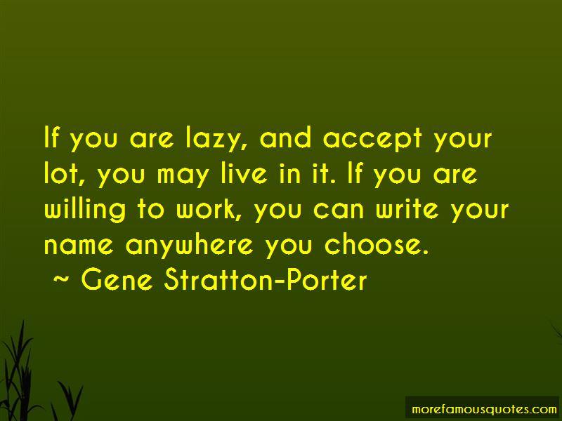 Gene Stratton-Porter Quotes