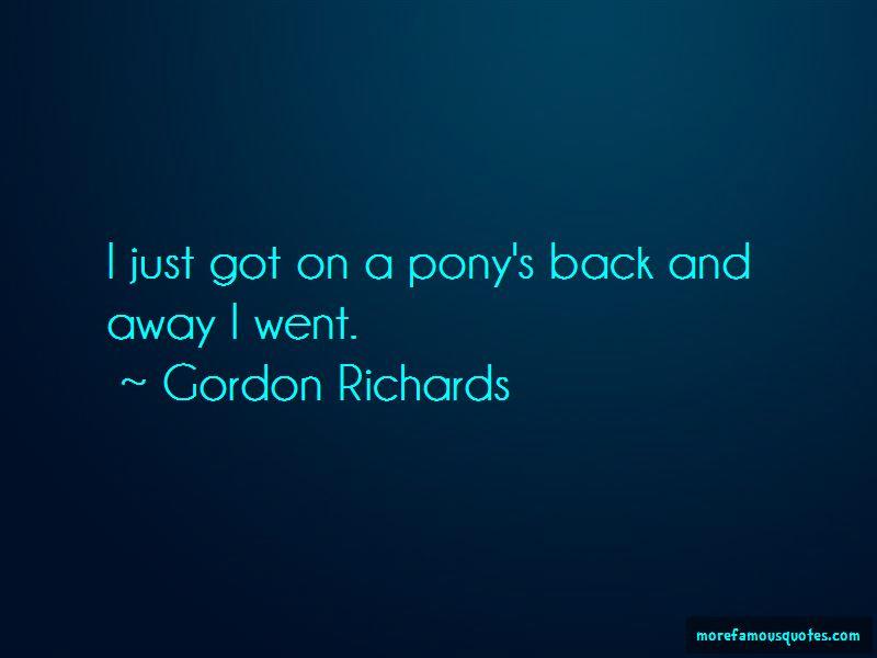 Gordon Richards Quotes