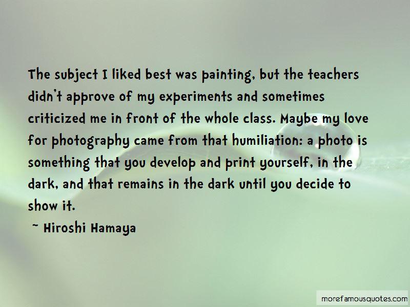 Hiroshi Hamaya Quotes