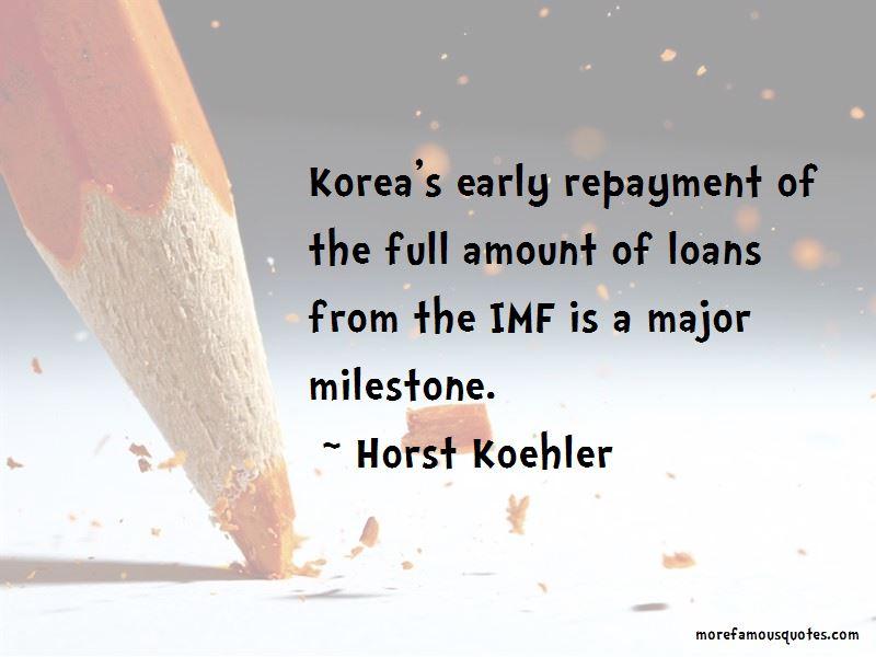 Horst Koehler Quotes