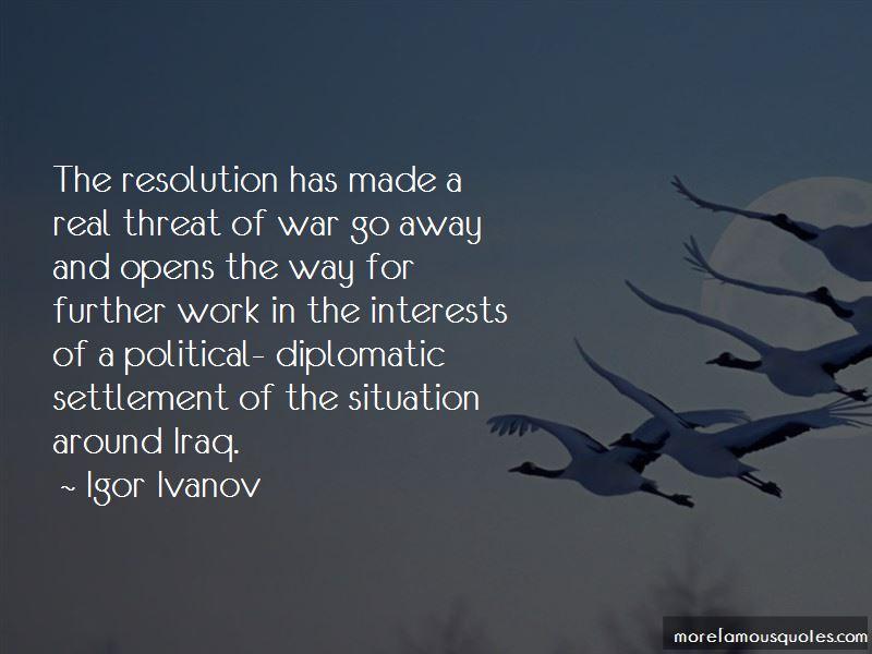 Igor Ivanov Quotes