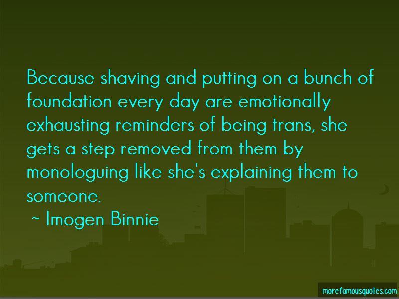 Imogen Binnie Quotes
