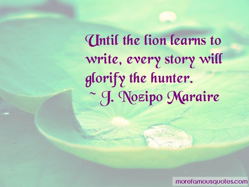 J. Nozipo Maraire Quotes