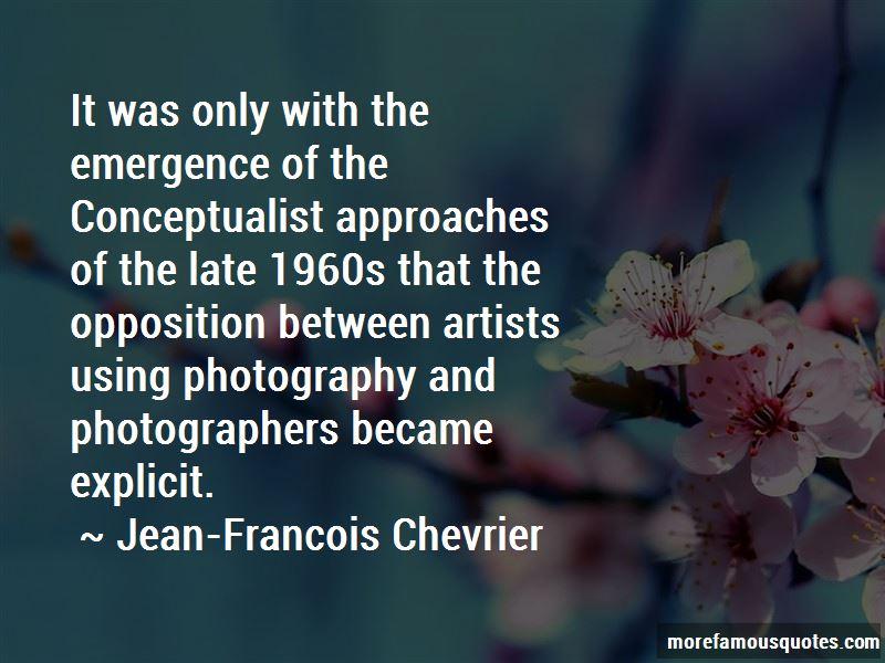 Jean-Francois Chevrier Quotes